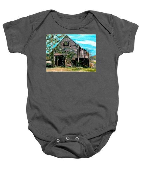 Rustic Barn - Mooresburg - Tennessee Baby Onesie