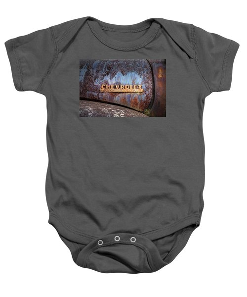 Rusty Chevrolet - Nameplate - Old Chevy Sign Baby Onesie