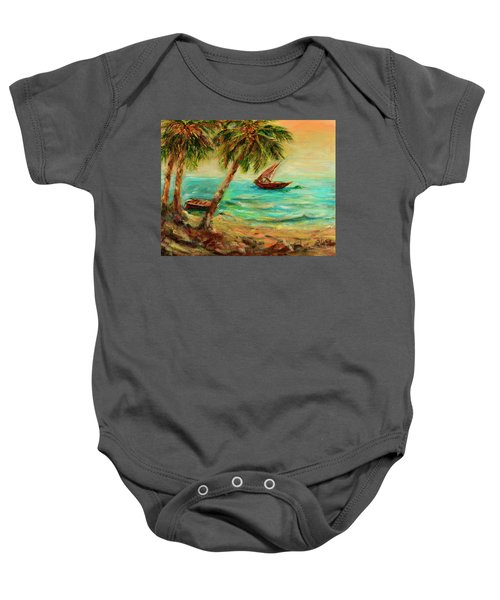 Sail Boats On Indian Ocean  Baby Onesie