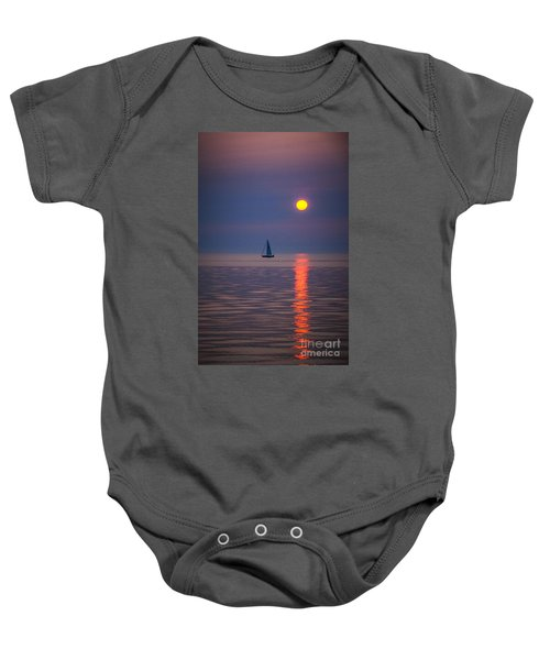 Sailboat At Sunrise Baby Onesie