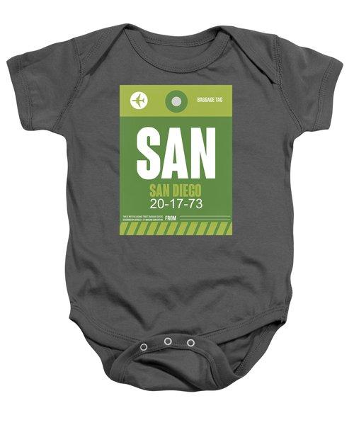 San Diego Airport Poster 2 Baby Onesie