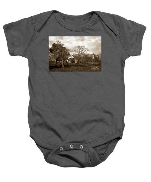 Santa Barbara Mission California Circa 1890 Baby Onesie