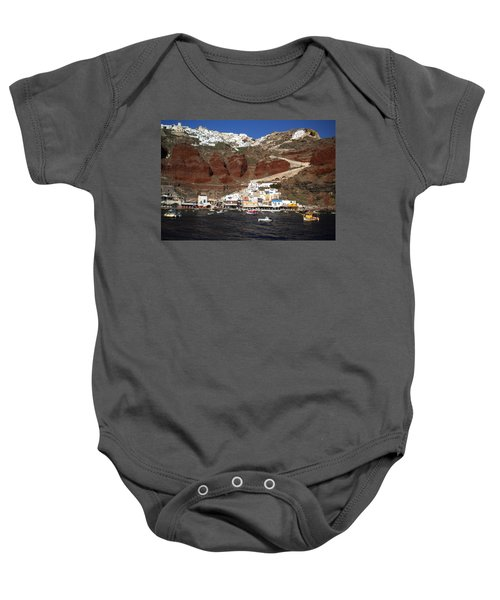 Baby Onesie featuring the photograph Santorini  Island  View To Oia Greece by Colette V Hera  Guggenheim