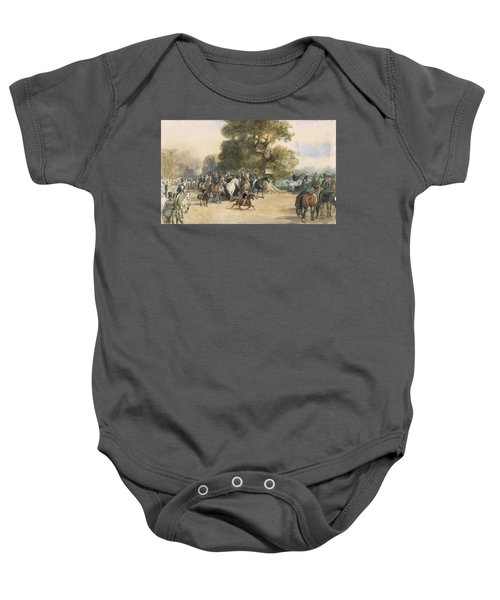 Scene In Hyde Park Baby Onesie by Eugene-Louis Lami