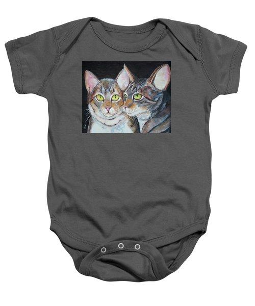 Scheming Cats Baby Onesie