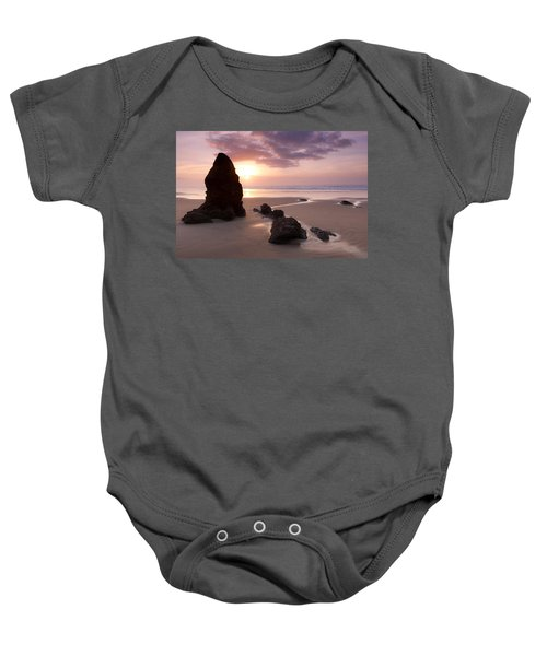 Sea Stack Sunset Baby Onesie