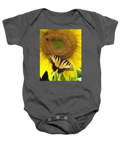 Secret Lives Of Sunflowers Baby Onesie