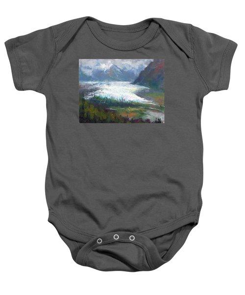 Shifting Light - Matanuska Glacier Baby Onesie