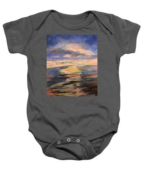 Shoreline Sunrise 11-9-14 Baby Onesie
