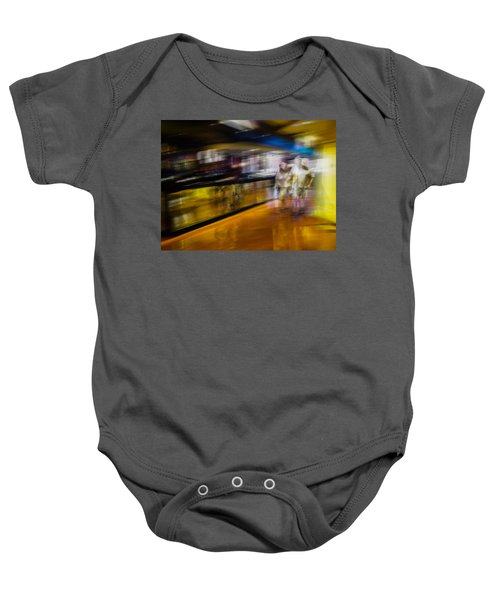 Baby Onesie featuring the photograph Silver People In A Golden World by Alex Lapidus