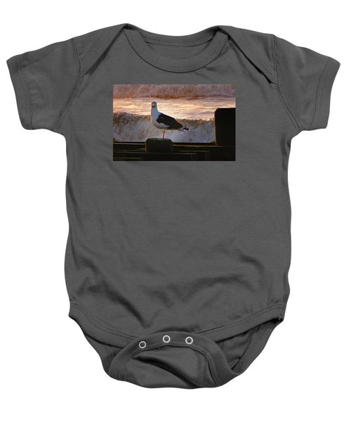 Sittin On The Dock Of The Bay Baby Onesie