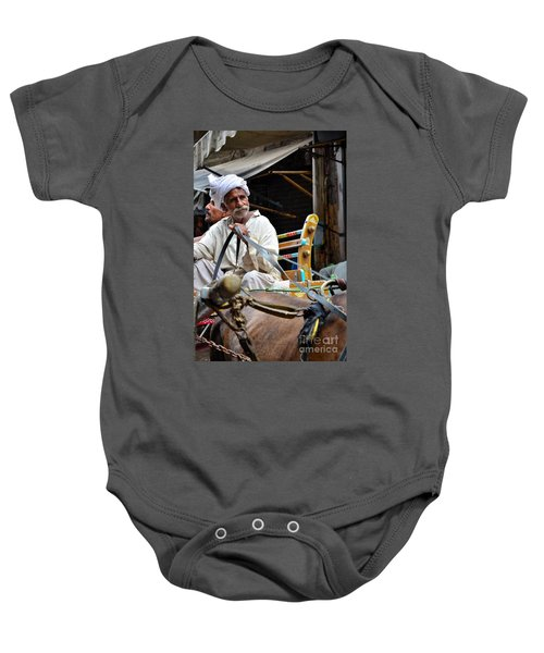 Smiling Man Drives Horse Carriage In Lahore Pakistan Baby Onesie