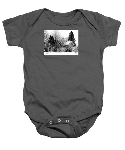 Da196 Snow House By Daniel Adams Baby Onesie