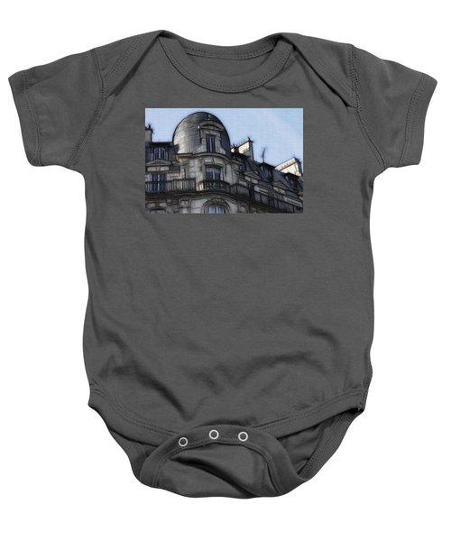 Softer Side Of Paris Architecture Baby Onesie
