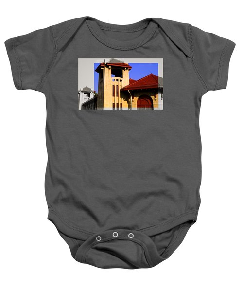 Spanish Architecture Tile Roof Tower Baby Onesie