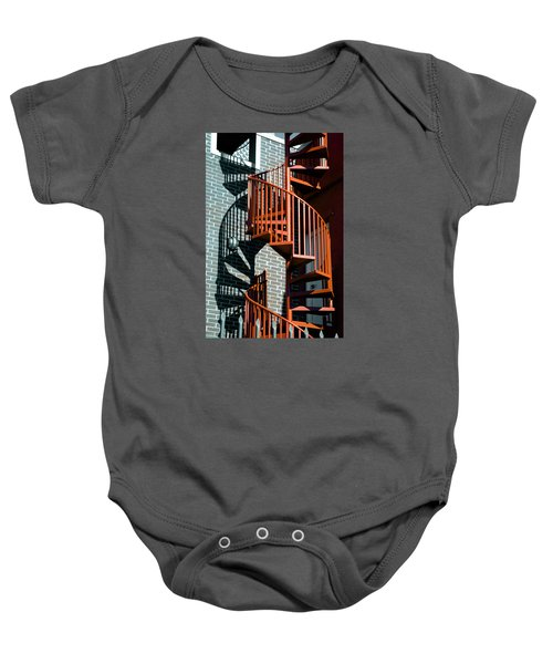 Spiral Stairs - Color Baby Onesie