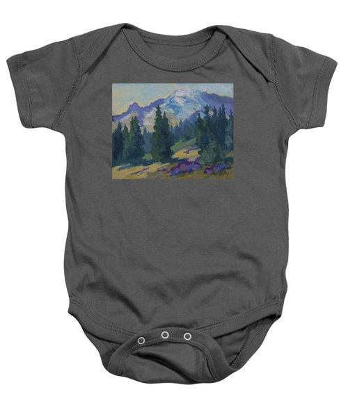 Spring At Mount Rainier Baby Onesie