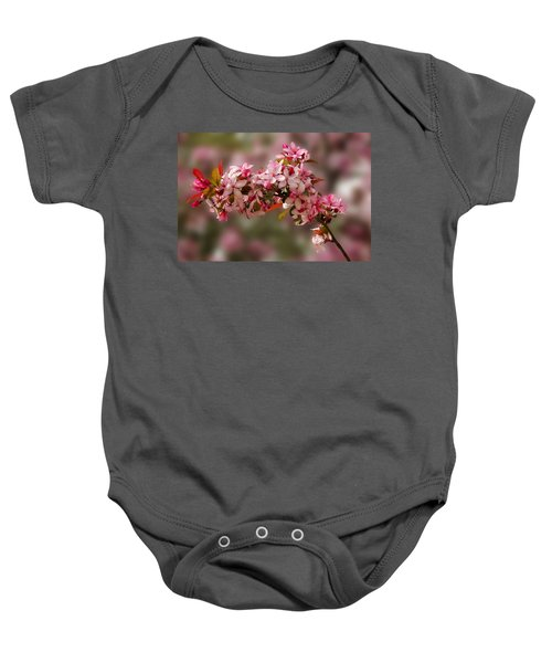 Cheery Cherry Blossoms Baby Onesie