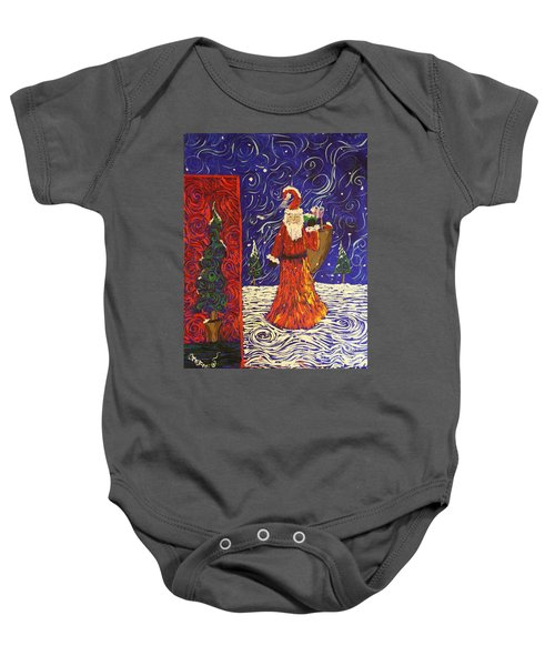 Squiggle Christmas Baby Onesie
