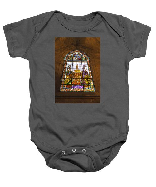 Stained Glass Window In Seville Cathedral Baby Onesie