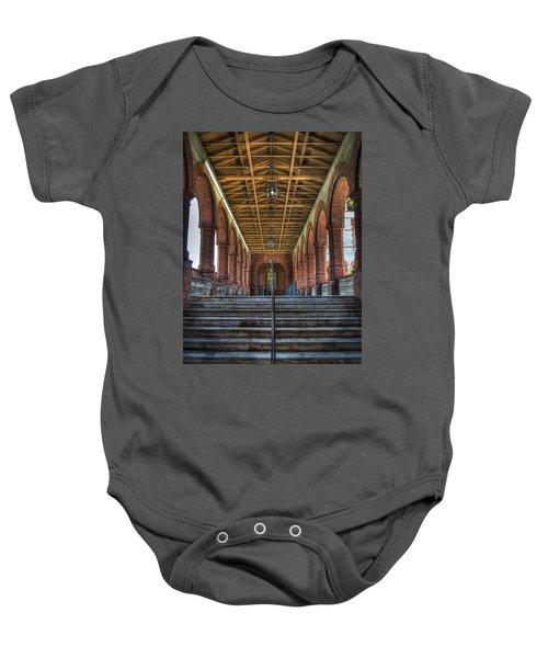 Stairway To History Baby Onesie