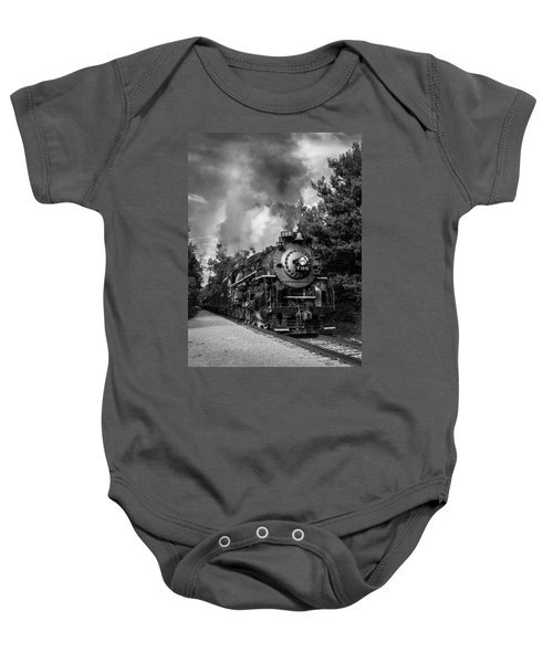 Steam On The Rails Baby Onesie
