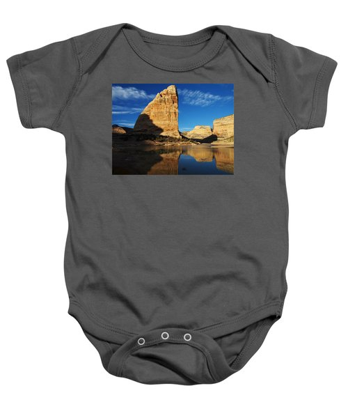Steamboat Rock In Dinosaur National Monument Baby Onesie