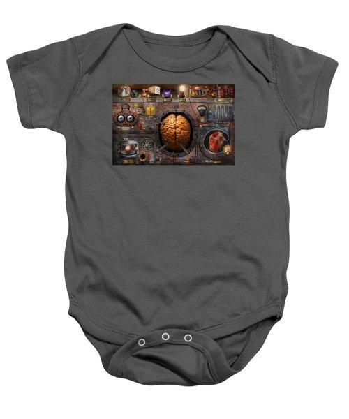 Steampunk - Information Overload Baby Onesie