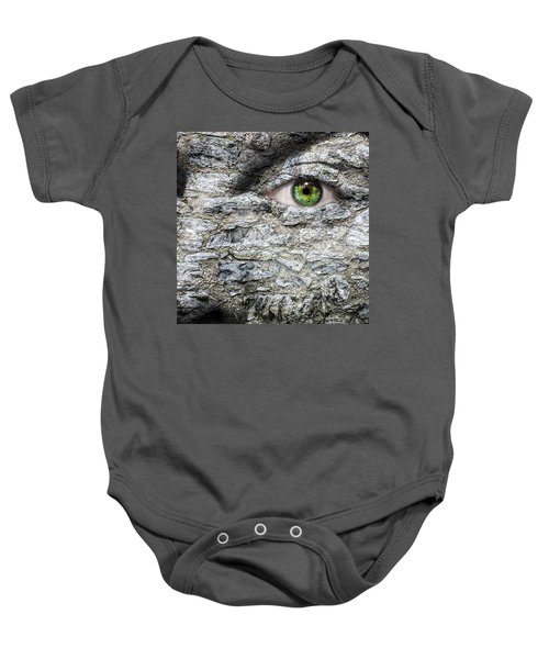 Stone Face Baby Onesie by Semmick Photo
