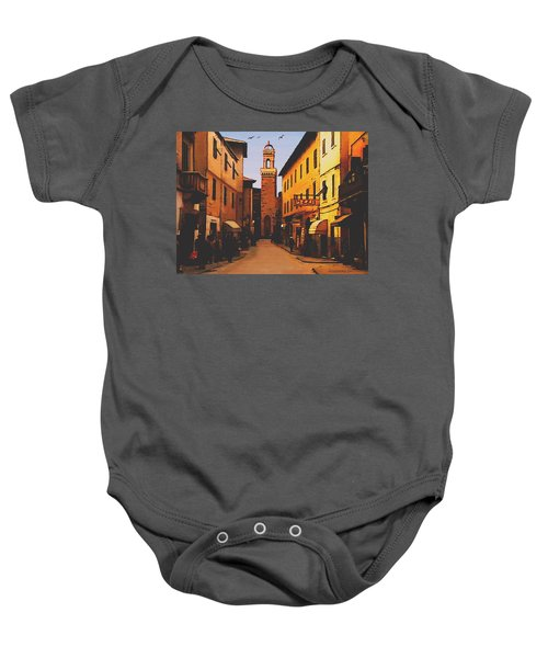Street Scene Baby Onesie
