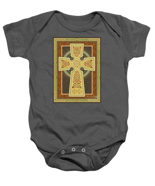 Stylized Celtic Cross Baby Onesie