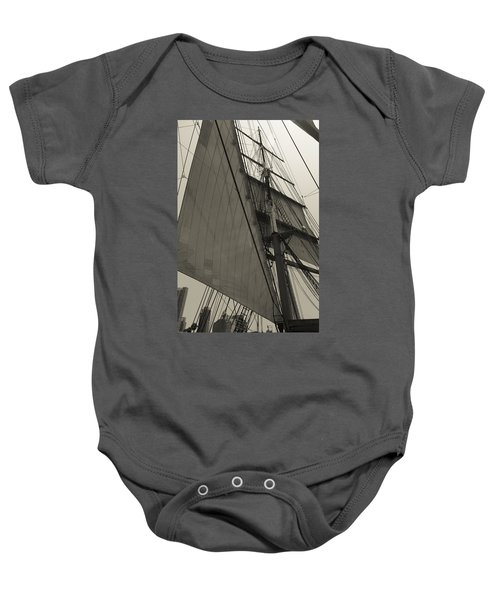 Suare And Triangle Black And White Sepia Baby Onesie