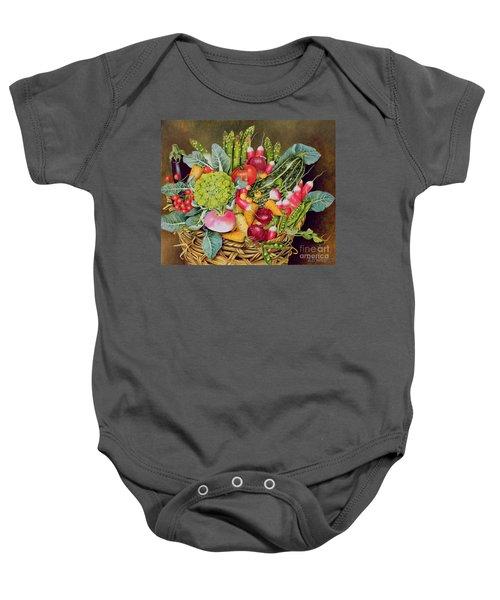 Summer Vegetables Baby Onesie