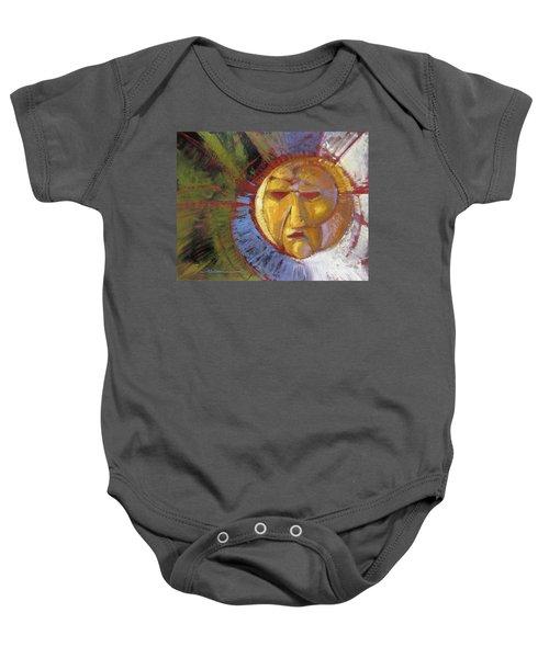 Sun Mask Baby Onesie