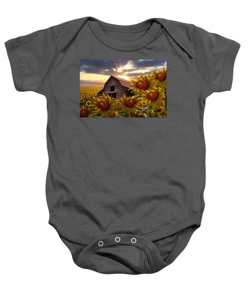 Sunflower Dance Baby Onesie