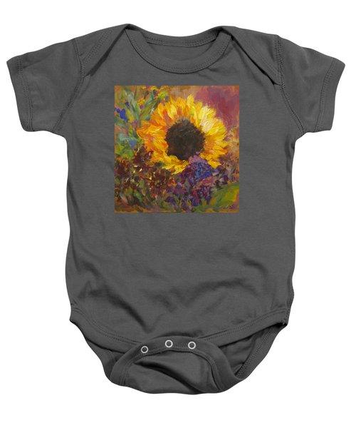 Sunflower Dance Original Painting Impressionist Baby Onesie
