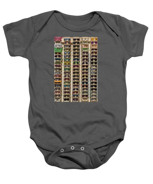 Sunglasses Baby Onesie by Peter Tellone