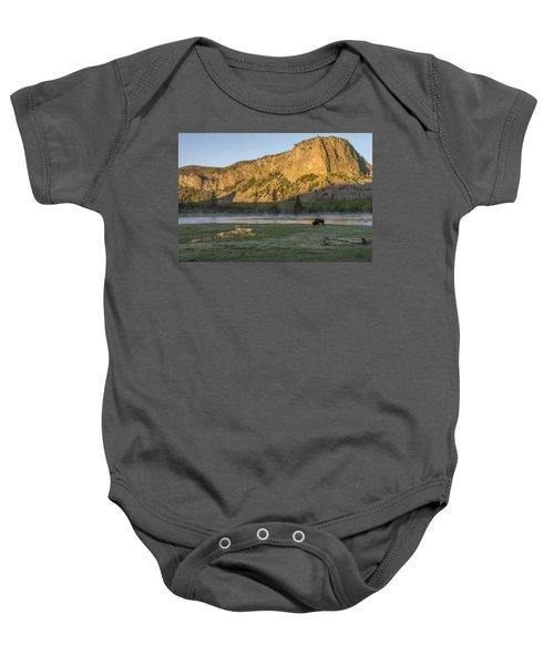 Sunrise Mt. Hayes Yellowstone National Park Baby Onesie