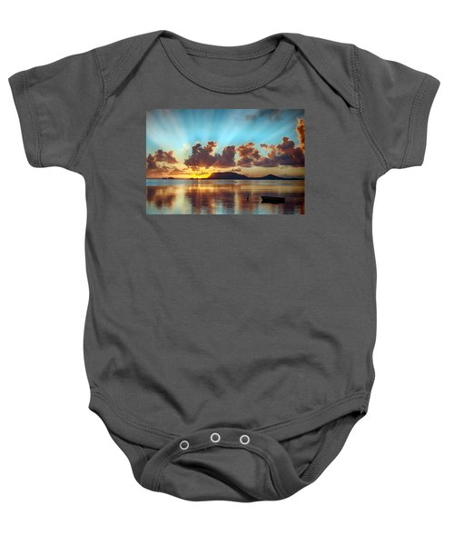 Sunrise Over Marine Corps Base Hawaii Baby Onesie