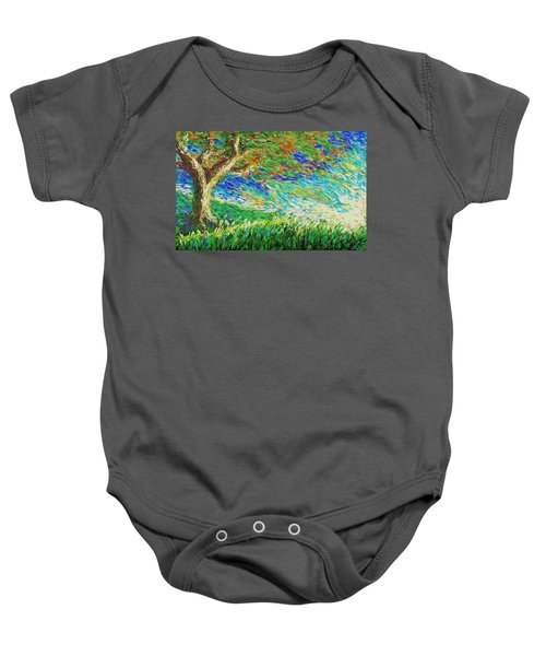 The War Of Wind And Sun Baby Onesie