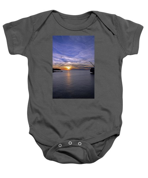 Sunset In Adriatic Baby Onesie