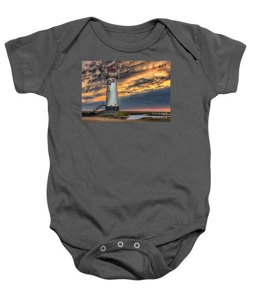 Sunset Lighthouse Baby Onesie