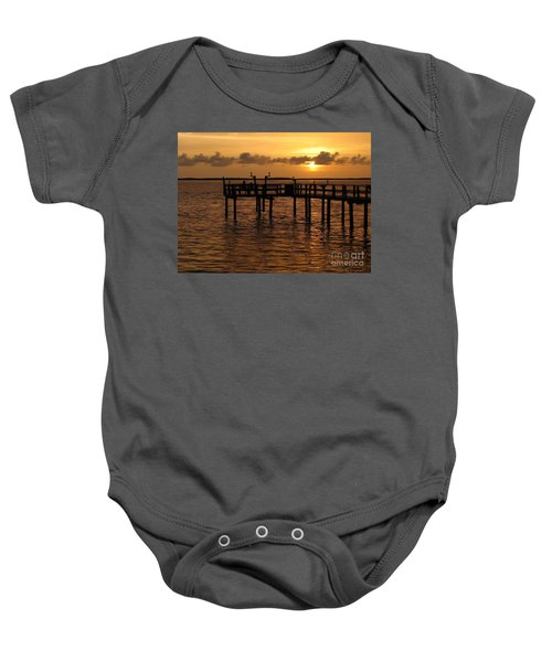 Sunset On The Dock Baby Onesie