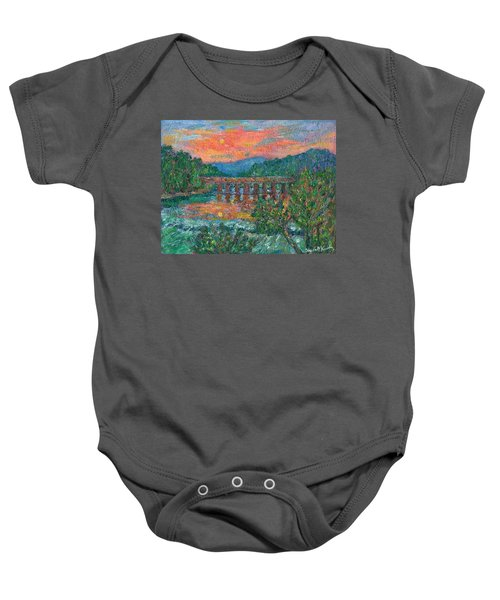 Baby Onesie featuring the painting Sunset On The New River by Kendall Kessler