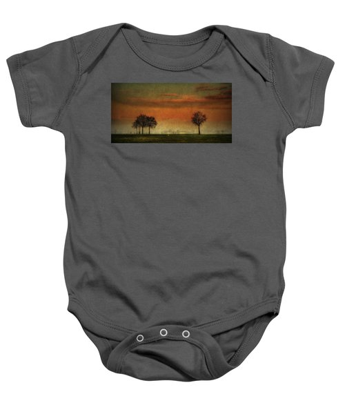 Sunset Over The Country Baby Onesie