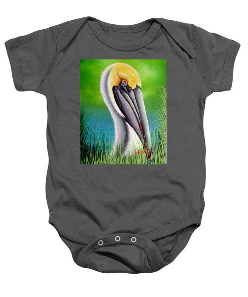 Sunset Pelican Baby Onesie