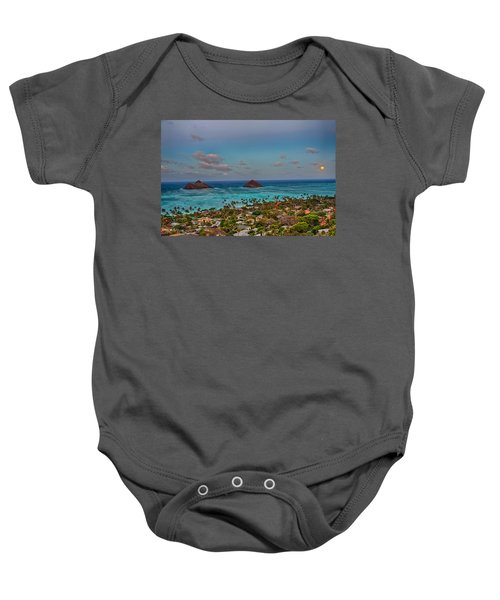 Supermoon Moonrise Baby Onesie