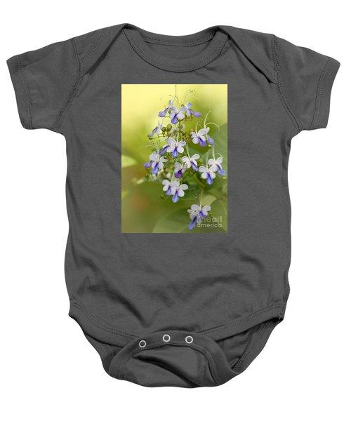 Sweet Butterfly Flowers Baby Onesie