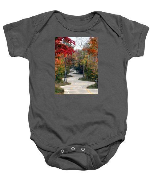 Swervy Road At North Port Baby Onesie