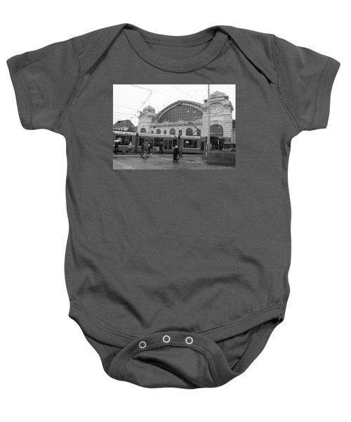 Swiss Railway Station Baby Onesie